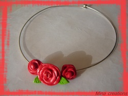 Collier Roses Rouges