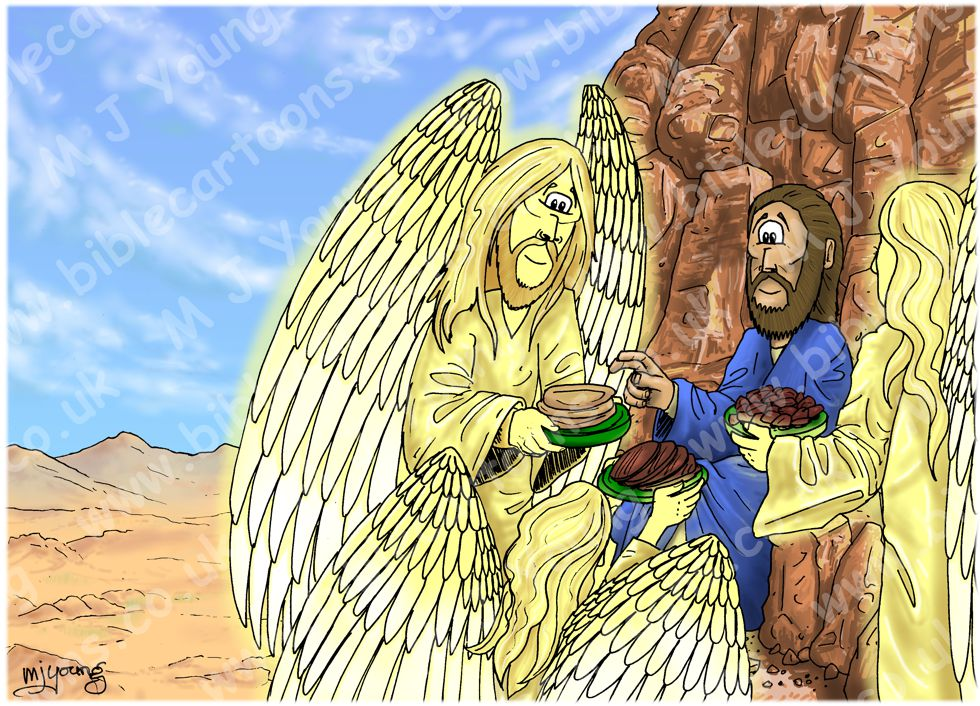 Matthew 04 - The temptation of Jesus - Scene 06 - Angels