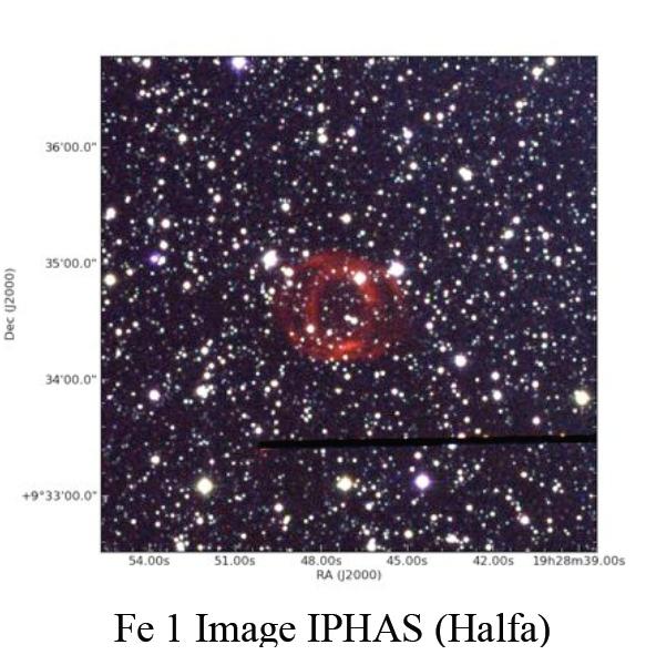 Fe1 planetary nebula Iphas