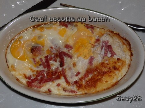 Oeuf cocotte au bacon (multidélices)