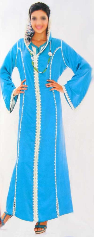 Djellaba Marocaine Bleu DJ-S611