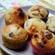 Muffins aux cranberries et au chocolat blanc
