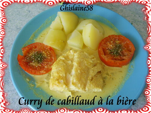 Curry de cabillaud à la bière