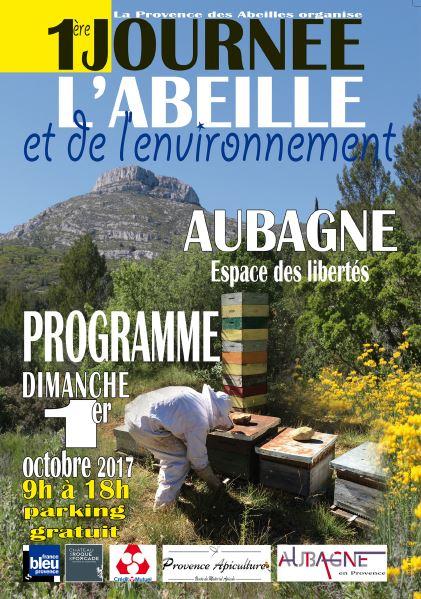 1° Journée de l'abeille et de l'environnement 1° octobre 2017 à Aubagne