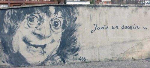 le street art rend hommage aux dessinateurs