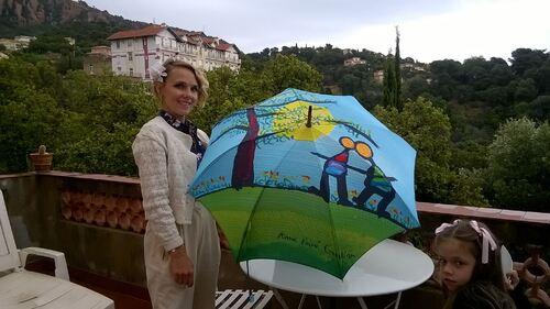 Parapluies sur la Côte d'Azur