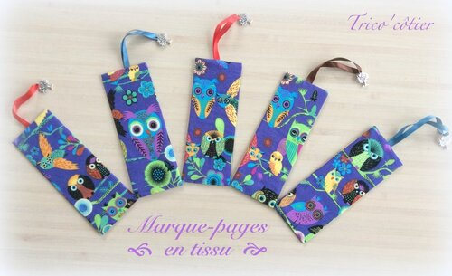 Petite couture : Marque-pages hibou