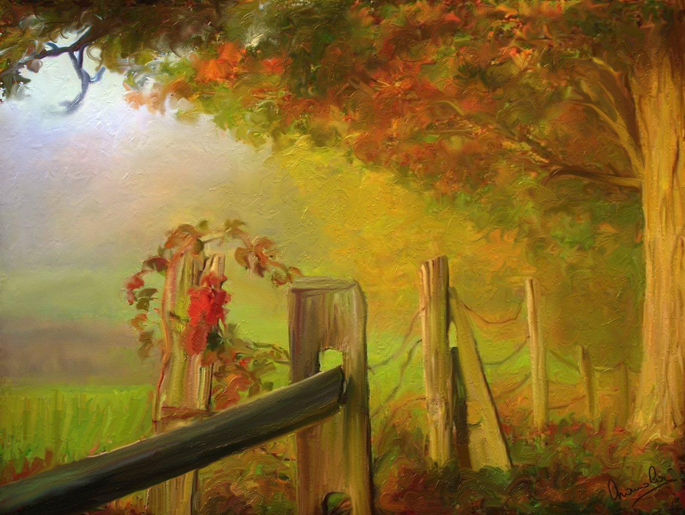 Paysages divers digit 39 arts for Peinture sur peinture