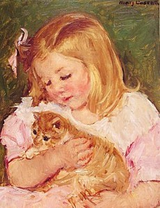 Cassatt Mary Sara Holding A Cat 1908