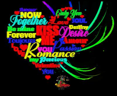 Coeurs avec texte