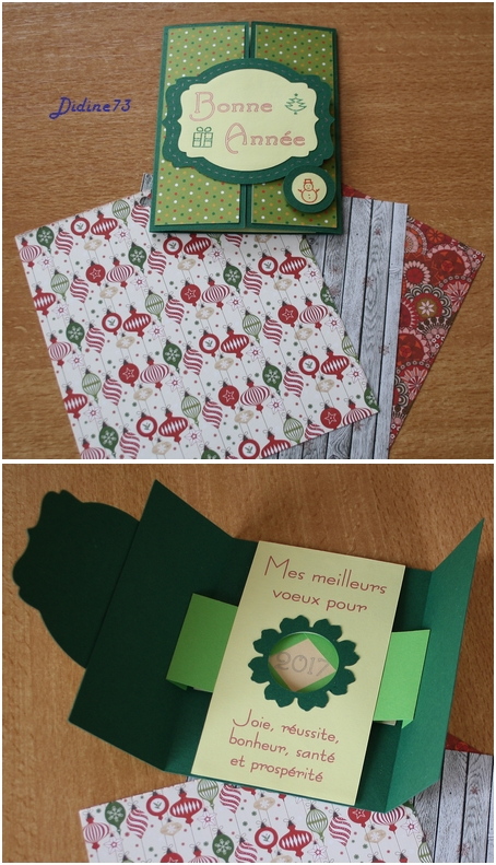 Ronde de carte de Noël - pour Tefanii