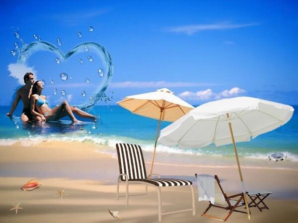 Couple d'amoureux en vacances