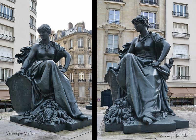Parvis du Musée d'Orsay : les six continents : L'Amérique du Sud