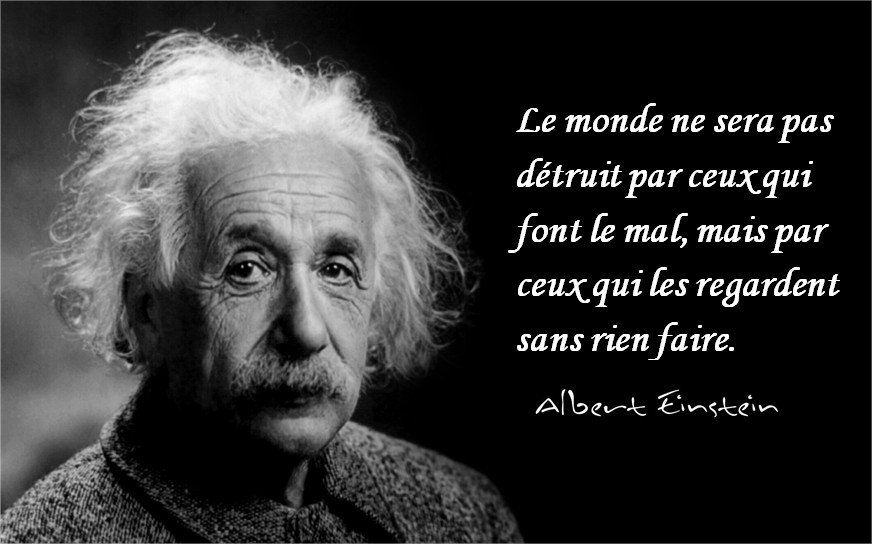 Einstein citation sur le monde