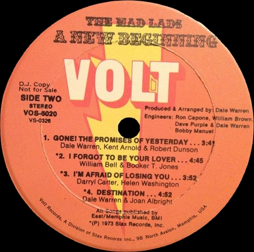 "The Mad Lads "" A New Beginning "" Volt Records VOS-6020 [ US ]"