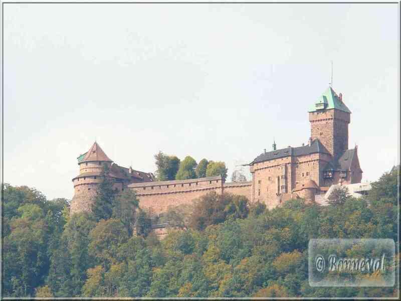 Alsace Haut-Koenigsbourg reconstruction du château par Guillaume II