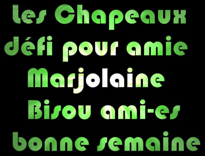 """Défi amie Marjolaine """" Les Chapeaux """""""