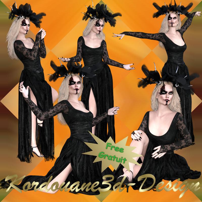 Images de sorcière gothique (tube-render)
