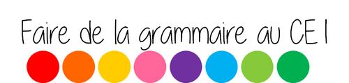 Faire de la grammaire