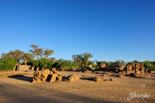 Rocks in the desert - Brandberg White Lady Lodge