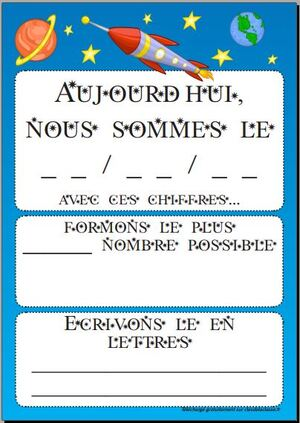 Everyday counts : calendrier des maths
