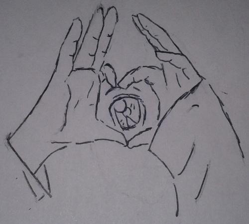 Entrainement sur le dessin des mains