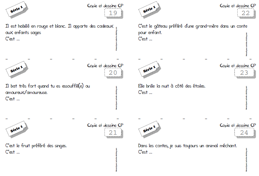 Favori Copie, (Devine) et Dessine CP CE1 sans photocopie - Zaubette LT87