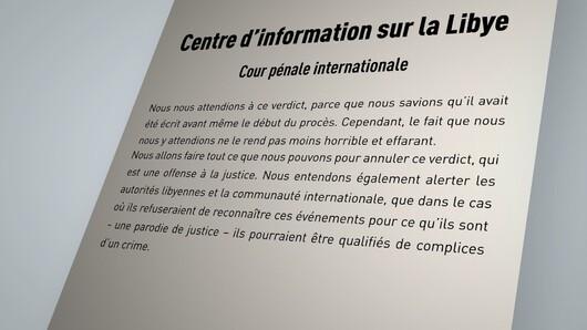 La déclaration du Centre d'information sur la Lybie