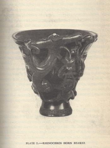 coupe corne rhino - Odell Shepard - 1930