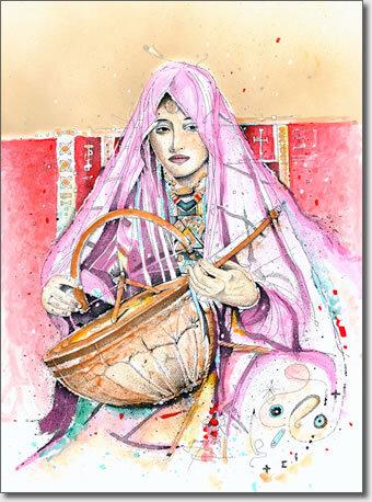 Peintures de Tamanrasset - Algérie