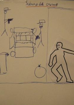 arts visuels : histoire policière : scène de crime