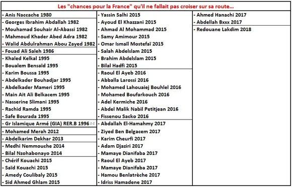 """Les infos du poissonnier """" la France terre d'exil pour les islamistes""""."""