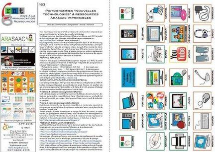 """Pictogrammes """"Nouvelles technologies"""" & ressources Arasaac imprimables"""