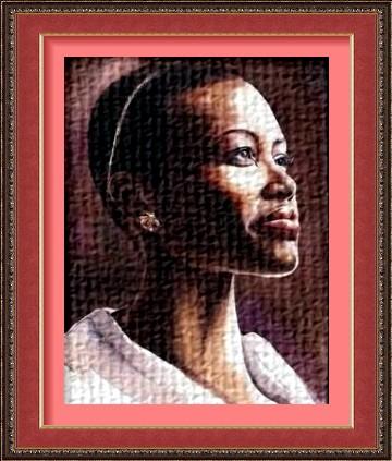 Dessin et peinture - vidéo 2282 : Portrait de femme africaine à l'aquarelle.