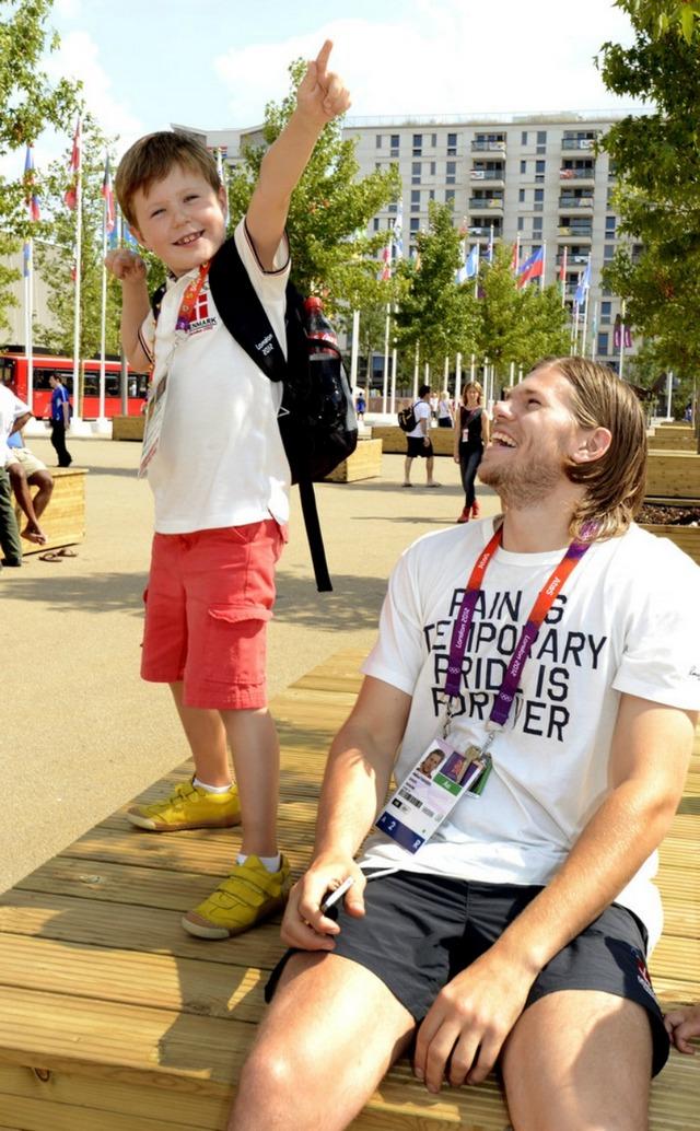 Visite au village olympique