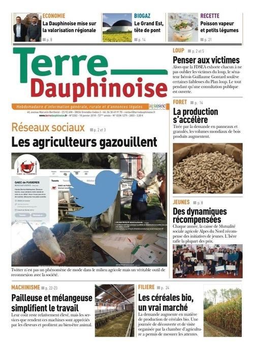 les agriculteurs et les réseaux sociaux Terre Dauphinoise Gaec de fugieres