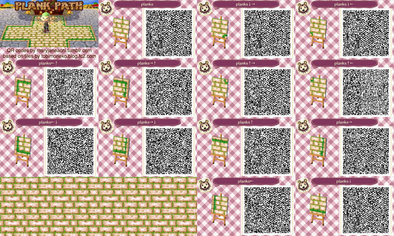 Qr code chemin animal crossing new leaf Boden qr codes animal crossing new leaf