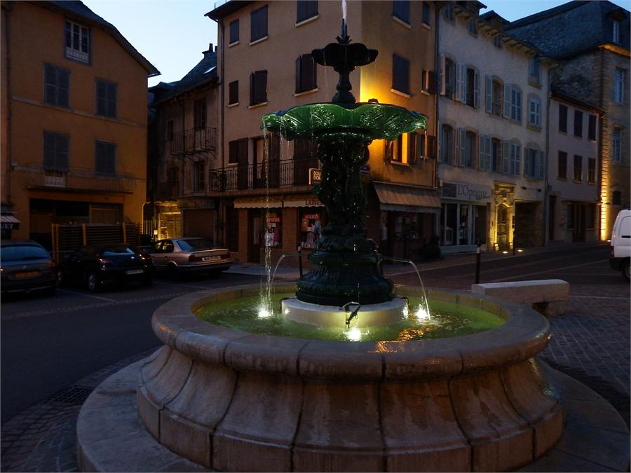 le soir à Saint Geniez d'Olt