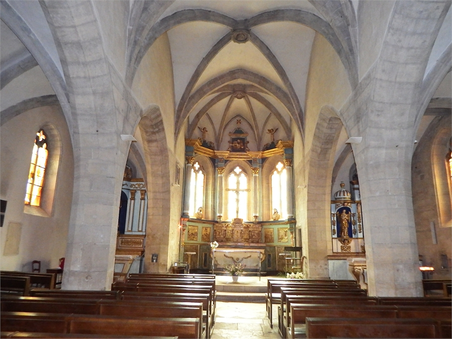 l'église d'Estaing  dept 12