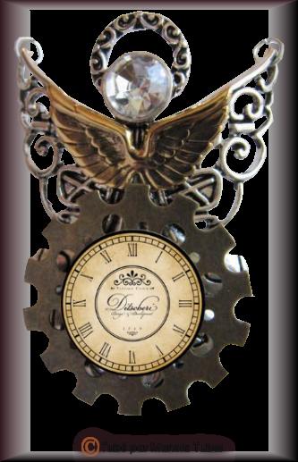 Tube Horloge Steapunk 2992