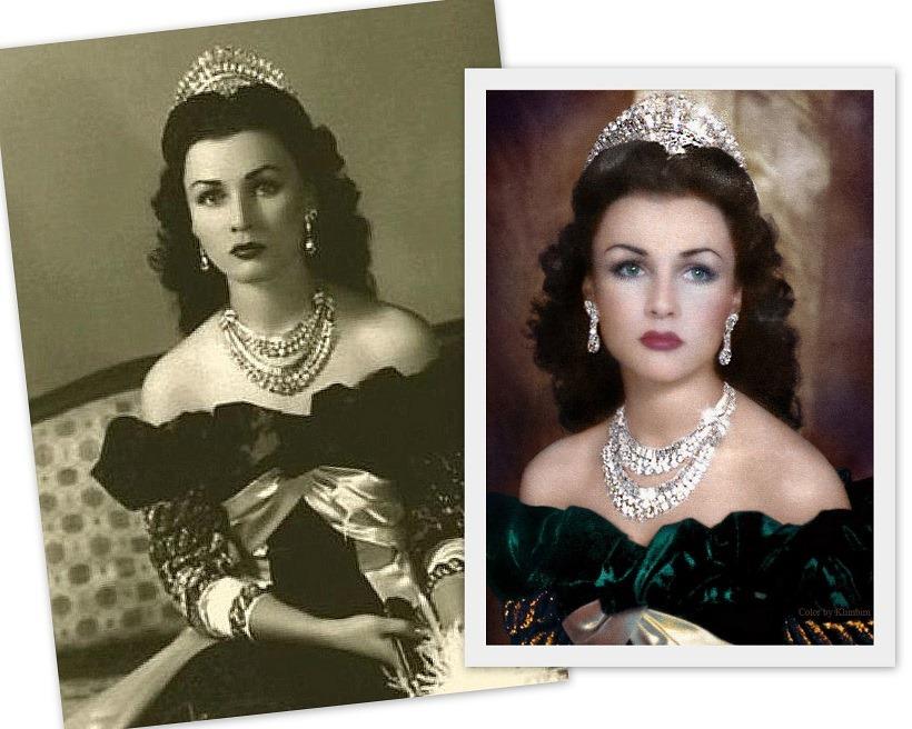 Fa  première épouse du Prince Reza Palhavi d'Iran