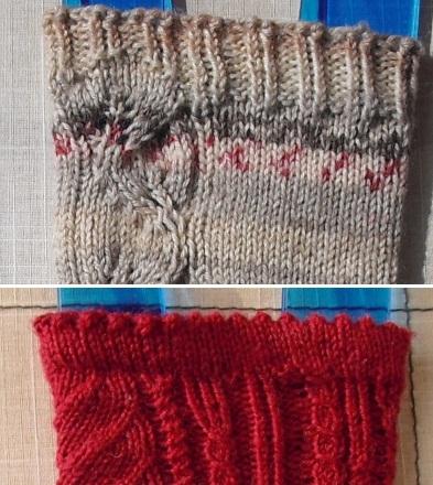 Tricoter ses chaussettes : la bordure - étape 6