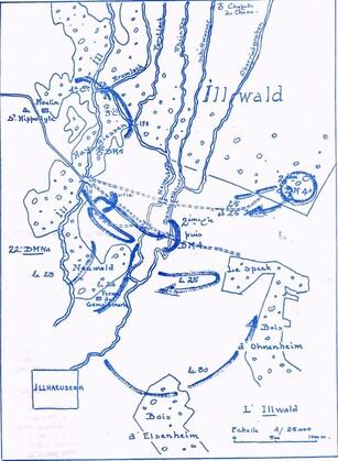 *Etape n° 40 - 25 Janvier 1945 -  Le sacrifice de la 2ème cie Chambarand du B.M 4 à l'Illwald suivi du portrait de Marie-Jeanne