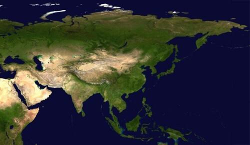 Asia satellite plane