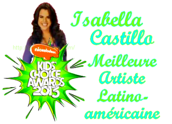 Kids choice awards Isabella Castillo