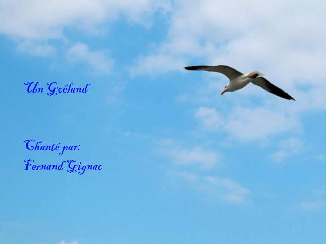 Un Goéland *Chanté par Fernand Gignac* Ma vidéo refait
