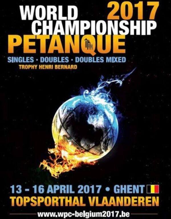 Championnats du Monde Doublette Mixte, Doublette Seniors, Individuels Masculins et Féminins à Ghent.