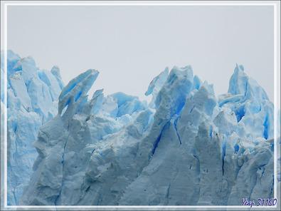 Front du Glacier Perito Moreno vu du Brazo Rico - Lago Argentino - Patagonie - Argentine