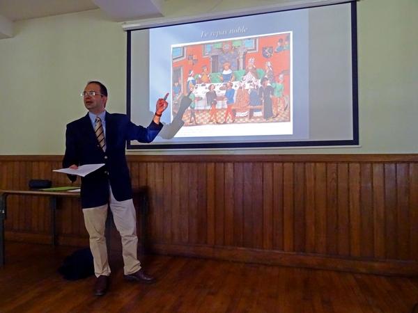 Une très intéressante conférence  au Château de Montigny sur Aube, sur la gastronomie au Moyen-äge