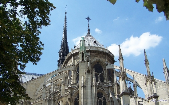 Chevet et flèche de Notre-Dame
